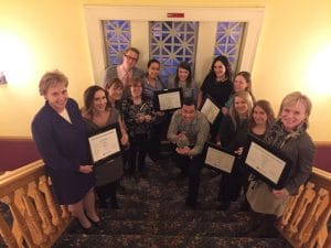 Showing off our 2017 IABC Chapter Management Awards